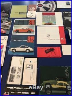 Porsche brochure Lot Vintage