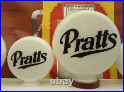 Pratts Fuel GAS Style Petrol Pump Globes Gas Pump Globe Vintage Classic Car