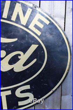 RARE 1940's VINTAGE FORD PARTS DEALER (16.5 X 24 INCH) DSP SIGN