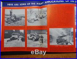 RARE 2 Vintage Advertising Catalogs Antique Dealer Brochures JEEP TRUCKS 1947