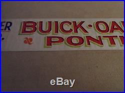 Rare Vintage Buick Pontiac Oakland Dealership Banner Sign