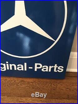 RARE VINTAGE Mercedes- Benz Original Parts Porcelain DEALERSHIP SIGN MINT