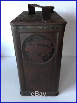 Rare Alexander Duckhams Morisol vintage 2 Gallon Shell Power Bp petrol can Tin