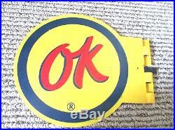 Rare NOS c1959 OK Used Cars Antenna Flag Chevrolet Vintage Advertising GM Sign