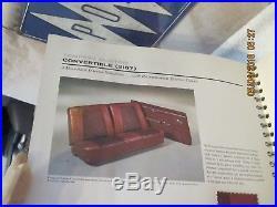 Rare Nos Vintage Original 1964 Pontiac Dealership Sales Book Colors, Interiores