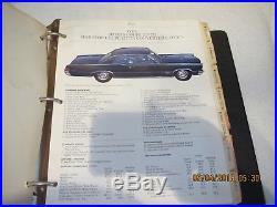 Rare Nos Vintage Original 1965 Pontiac Dealership Sales Book Colors, Interiores