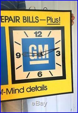 Rare Original Vtg GM Dealership Clock Sign Gas Oil GMC Car Truck Not Porcelain