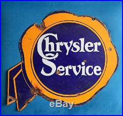 Rare Vintage 1920's Original Chrysler Service 2 Sided Porcelain Sign