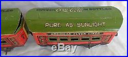 Rare Vintage 1928 Coca Cola Promo American Flyer Train Car Set