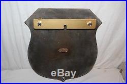 Rare Vintage 1950's Brink's Armored Bank Car Gas Oil 13 Embossed Metal Sign