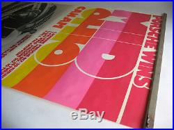 Rare Vintage 1973 Porsche Mid Ohio Can-Am Showroom Racing Victory Poster Orig