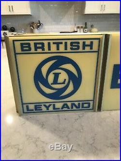 Rare Vintage British Leyland Lighted Hanging Sign Jaguar MG Land Rover Mini