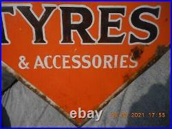 Rare, Vintage Enamel Advertising Sign, John Bull Tyres, Automobilia Original