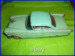 Rare Vintage Ichiko 1958 Oldsmobile 98 Two Tone Green Tin Friction Toy Car