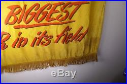 Rare Vintage Large 1950 Ford Automobile Banner Sign 50 X 35 Wow! Man Cave