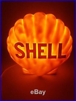 Rare Vintage Shell Petrol Pump Globe Lamp Plastic