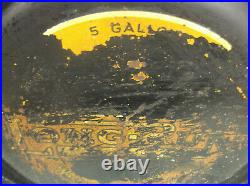 Rare Vintage Western Auto Long Run Oil Rocker Can 5 Gallons