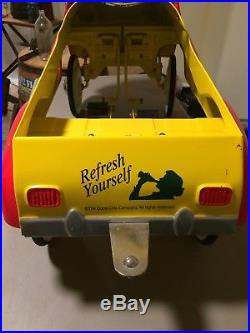Retro Vintage Coca Cola Pedal Car With Trailer And Cooler By Gearbox. 2001
