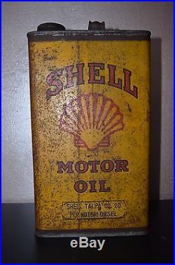 SHELL MOTOR OIL BIDONE LATTA Shell 1960 Arredo Vintage Insegna Pubblicità