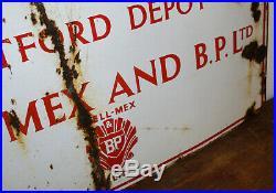 Shell Mex & BP enamel sign advertising garage metal vintage motor petrol antique
