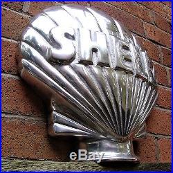 Shell Petrol Pump Globe Aluminium Shell Globe Oil Petrol Vintage Garage VAC211