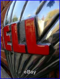Shell Petrol Pump Globe Aluminium Shell half Globe Oil Petrol Vintage Garage oil