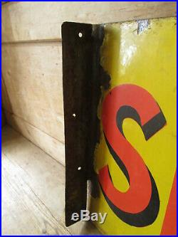 Shell enamel double sided sign. Vintage sign. BP. Esso