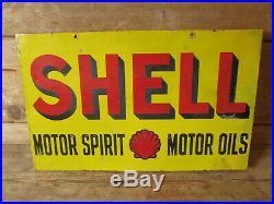 Shell motor spirit /motor oils enamel double sided sign. Vintage sign. BP. Esso