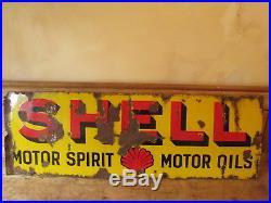 Shell motor spirit sign. Vintage sign. Enamel sign. Esso. BP. Castrol