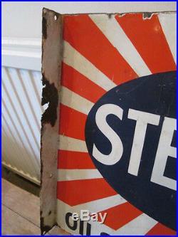 Sternol oil and greases enamel sign. Vintage sign. Garage sign. Petrol. Oil