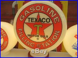 TEXACO Filling Station Gasoline Vintage Style Petrol Pump Globes Gas Pump Globe