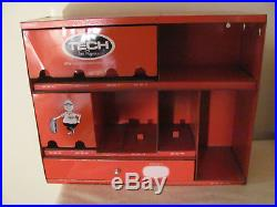 Tech Tire Repair Vintage Auto Parts Service Station Wall Cabinet