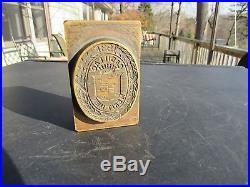 Vintage 1931 Cadillac Merit Men Brass Dealer Salesman Award Eschmann Loede N. Y
