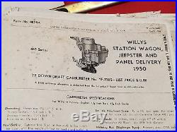 VINTAGE 1940s -50s WILLYS OVERLAND OWNERS -SERVICE MANAL SALES BROCHURES