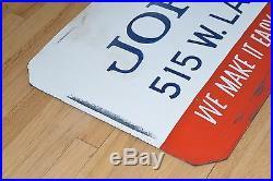 VINTAGE 1950s BUICK CAR DEALERSHIP SIGN 6 FT! HAND PAINTED MASONITE AUTO DEALER