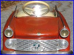 VINTAGE 1950s ROSCA GRANTURISMO ITALY PEDDLE CAR TOY LARGE 44 CLASSIC ORIGINAL
