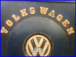 VINTAGE 50s WOODEN VOLKS WAGEN GARAGE SIGN AS FOUND UNTOUCHED ORIGINAL COND
