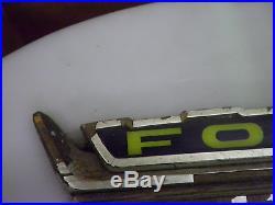 VINTAGE 60 Ford Crest Rare Dealership Sign