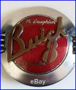 VINTAGE AUTOMOBILE ADVERTISING BADGE SIGN Mc LAUGHLIN BUICK OF CANADA 1923-42