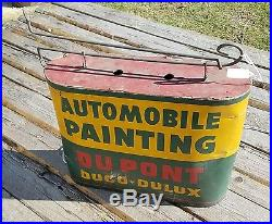 Vintage Automobile Painting Dupont Duco-dulux Double Sided Lighted Sign