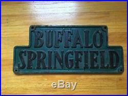 VINTAGE BUFFALO SPRINGFIELD STEAMROLLER SIGN PLAQUE Stills Young Rock & Roll