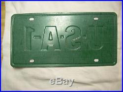Vintage Chevrolet Usa-1 See America First Dealer Steel License Plate