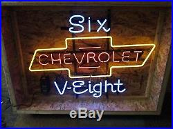 Vintage Chevy Dealershiip Neon Sign Restored