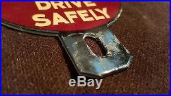 Vintage Coca Cola License Plate Topper 4 3/4 Automobile 4 Sign