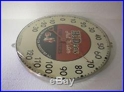 VINTAGE HaDees HOT WATER CAR HEATERS THERMOMETER DEVIL BURD PISTON RINGS SIGN