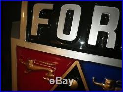 VINTAGE ORIGINAL Circa 1950's early 1960's Ford Dealer Showroom Sign