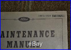 VTG 1941 Ford Model GP Jeep Maintenance Manual TM10-1101 TM-1101 N