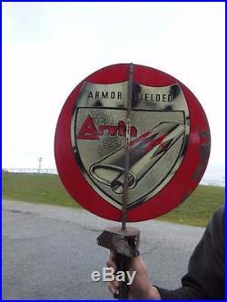 Vtg Arvin Mufflers Armor Shilded Whirligig Spinning Gas Station Sign Garage Car