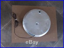 Vtg Bardahl Oil Advertising Round Glass Face Clock Old Automotive Car Sign Works