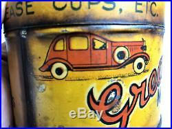 Very Rare Vintage Greaso Motor Grease 1 Lb Tin Car Garage Petrol Oil Coburg Melb